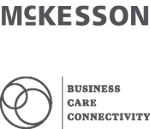 McKesson logo above business, care, connectivity logo